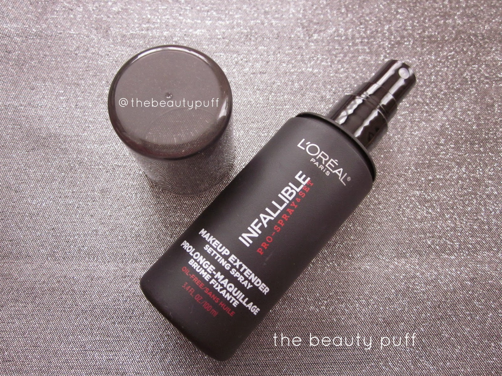 loreal infallible setting spray - the beauty puff