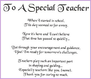 TEACHERS ! THANK YOU FOR BEING SUCH A GREAT TEACHER !