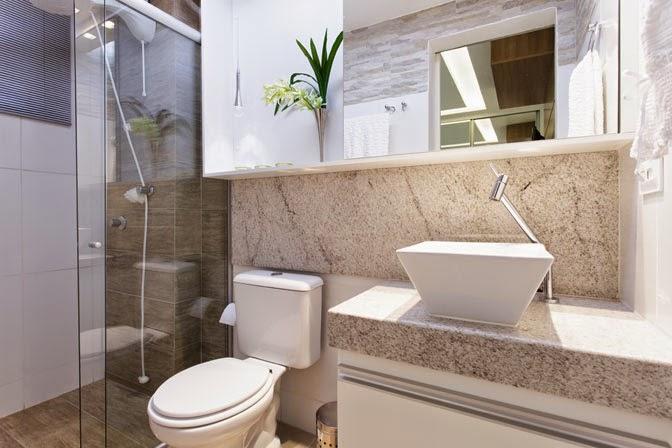 Banheiros claros branco e bege – veja modelos modernos e dicas!  Decor Salt -> Cuba De Banheiro Laranja