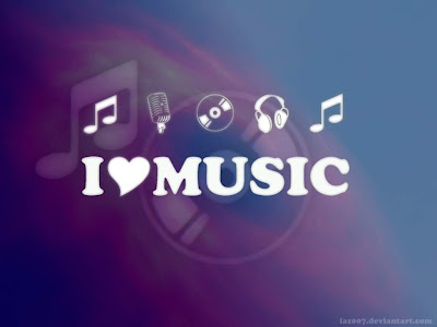 Blue Purple - I Love Music Wallpapers