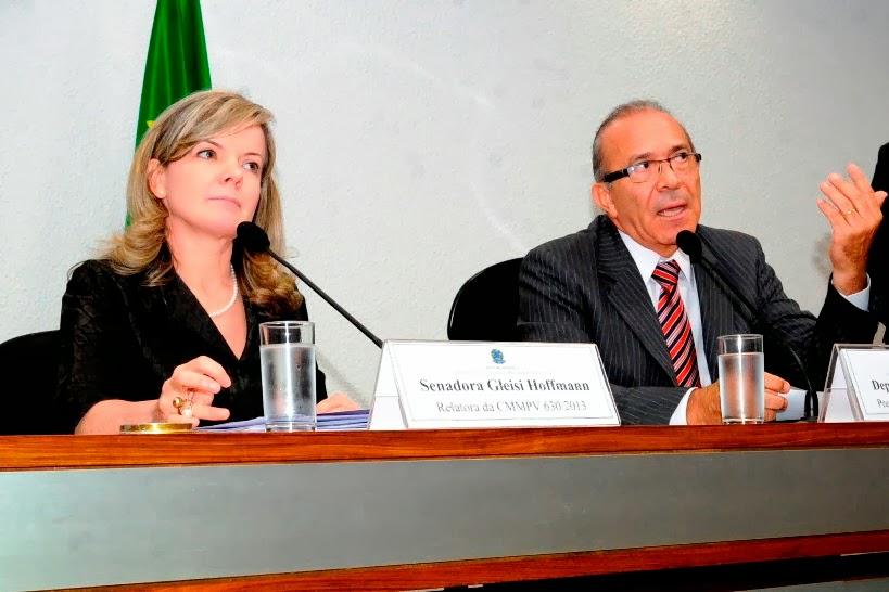 Senadora Gleisi Hoffmann, Eliseu Padilha, Comissão Mista MP 630