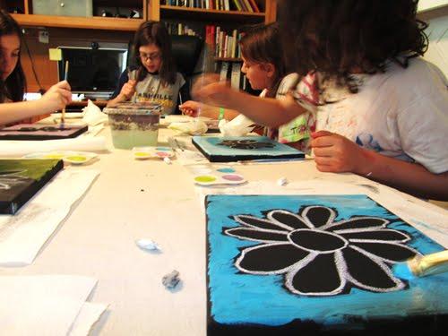 Pb j creations kids paint parties for Kids paint party