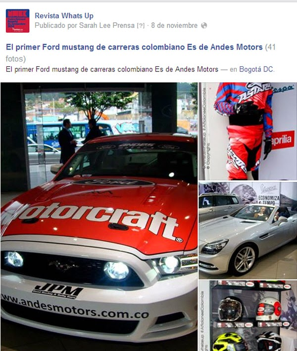 primer-Ford-Mustang-carreras-colombiano-Andes-Motors-Holding