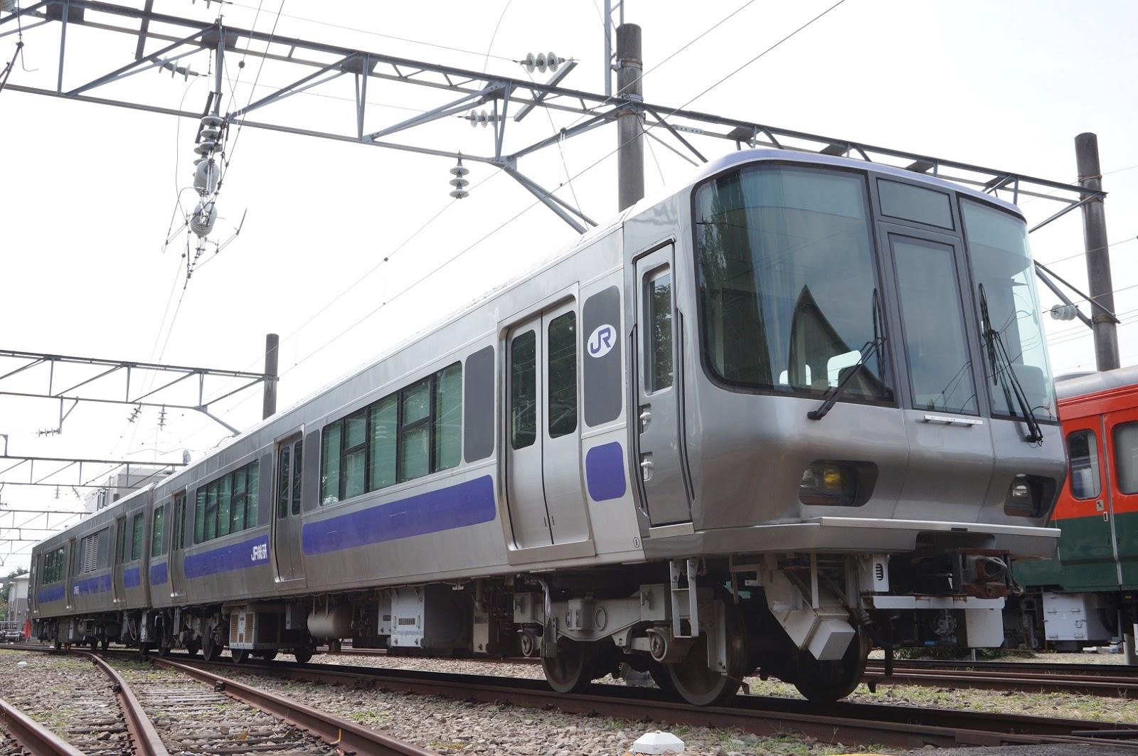 展示されていたR291構内用試験電車