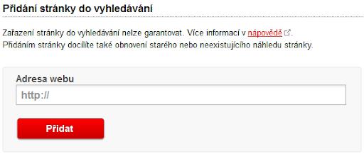 Zaindexování stránky do vyhledávače Seznam.cz