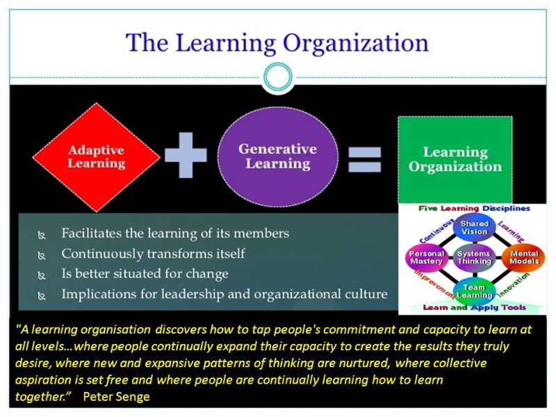 organization development in a learning organization Organizational development organizational development is a planned effort for a work group and/or the organization, managed by leadership and supported by employees, to increase organization effectiveness through planned change in processes and systems.
