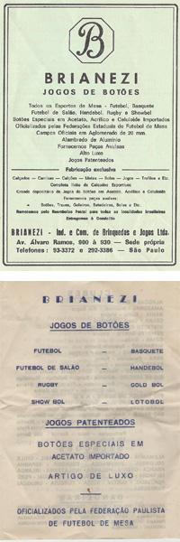 Catálogos antigos da Brianezi