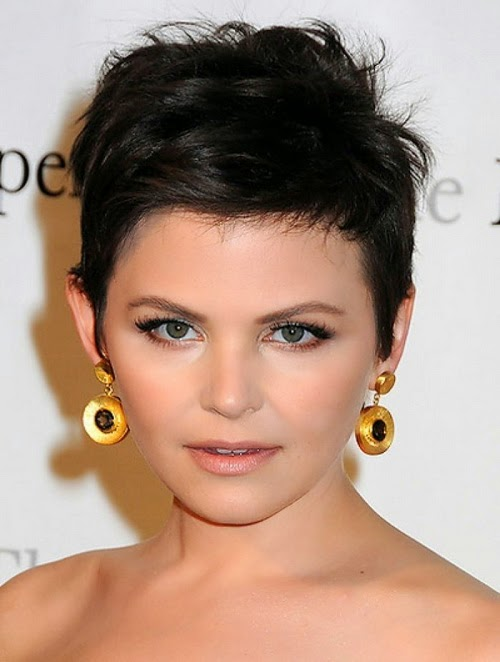 2014 black short hairstyles for round faces
