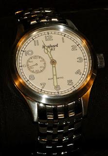 Montre Hanhart Pioneer Preventor9 cadran écru référence 752.200-6428