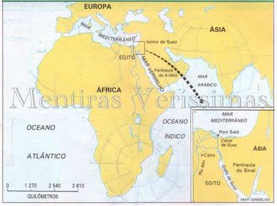 O Canal de Suez encurtou o caminho da Europa para o Oceano Índico