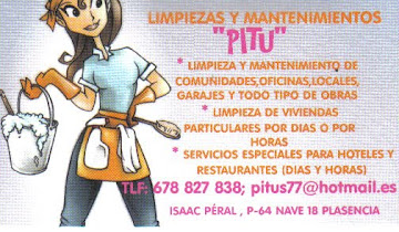"""LIMPIEZAS Y MANTENIMIENTOS """"PITU"""""""