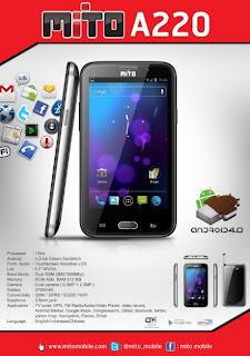 Mito A220 Phablet Android layar 5 inch harga dibawah 1 juta