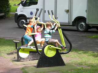 exercise machines in park