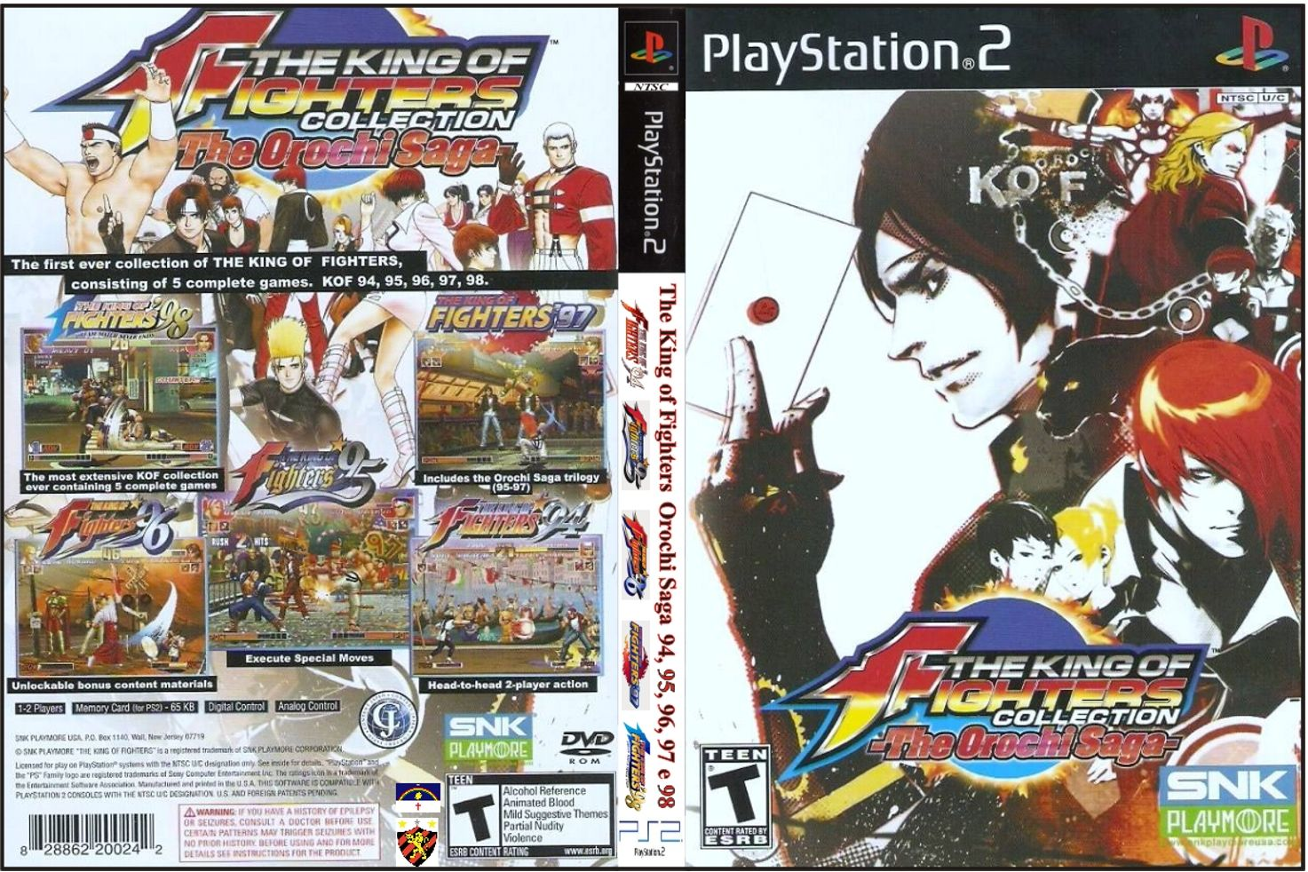 Jogo The King of Fighters Collection The Orochi Saga PS2 DVD Capa