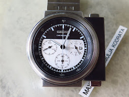 SEIKO CHRONOGRAPH ALIENS BLACK AND WHITE DIAL DESIGN BY GIUGIARO - LIMITED EDITION-BRAND NEW WATCH