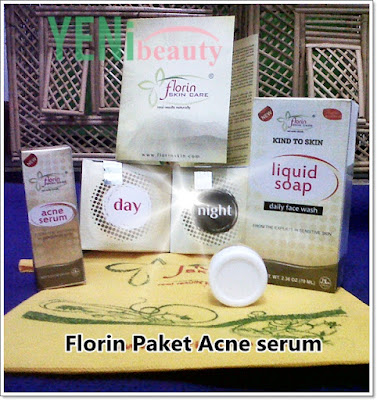 Florin skin care paket acne serum (jerawat)