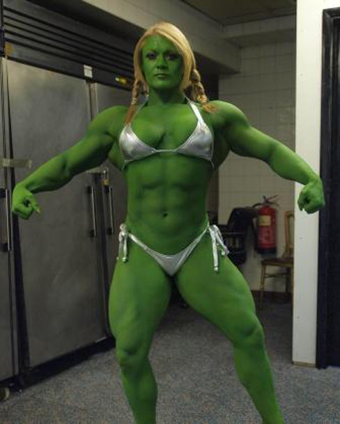 Lisa Cross She-Hulk Female Muscle Bodybuilding