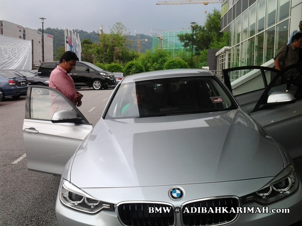 CDM Adibah premium beautiful top agent at BMW to test drive new F30
