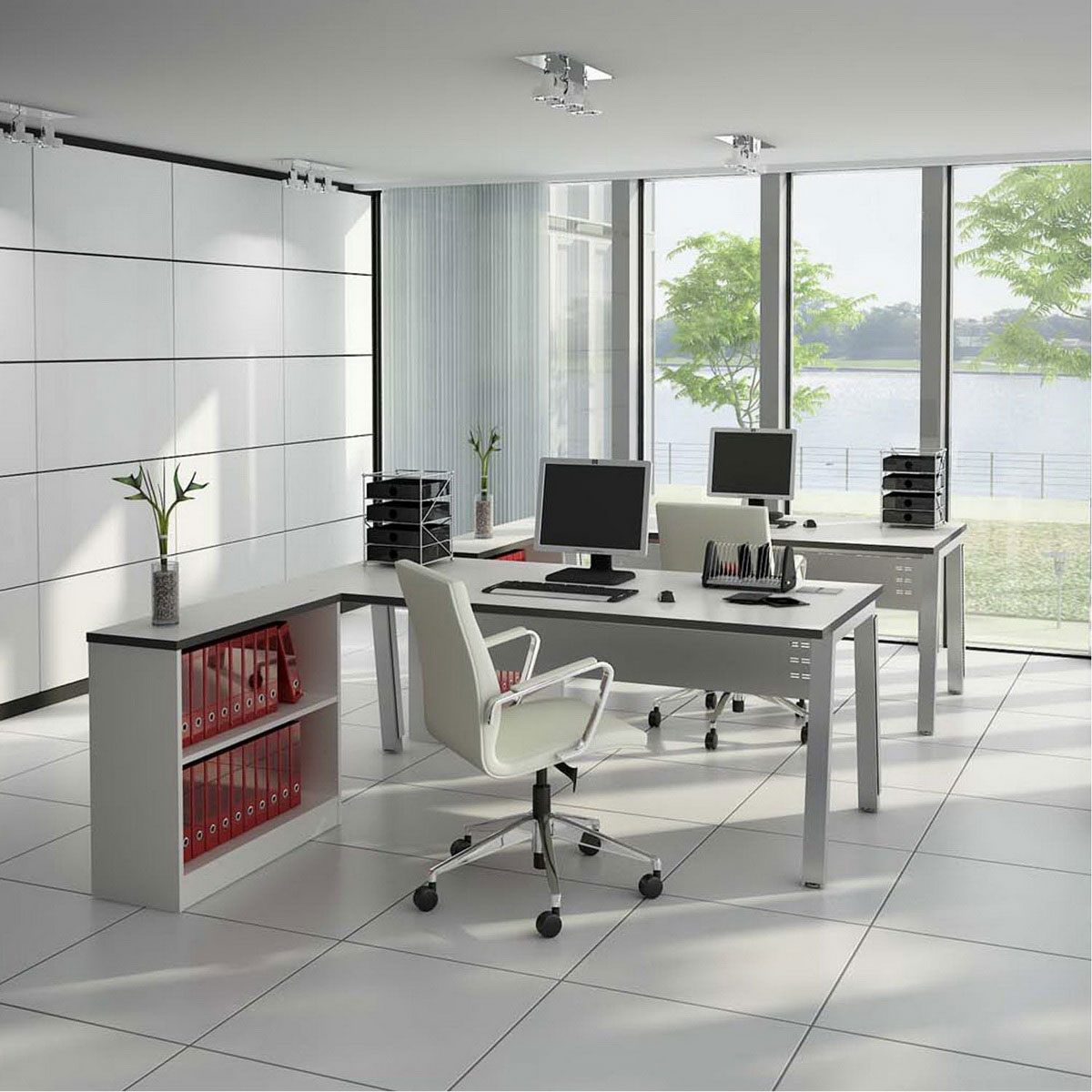 Office interior design dreams house furniture for Home office design 10x10