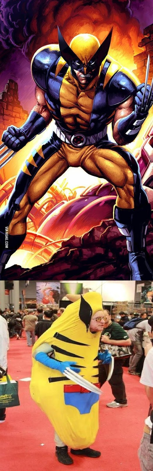 Wolverine cosplay.. Nailed it!.