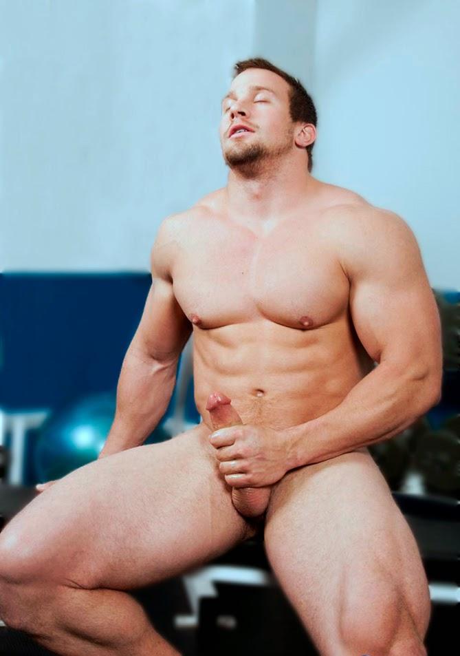 sexy brawny man commercial