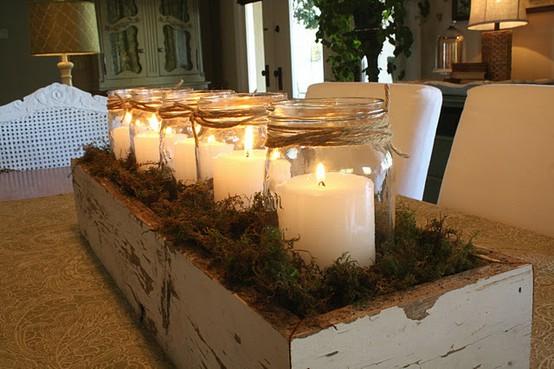 Decorazioni natalizie con candele blossom zine blog - Decorazioni natalizie con legno ...