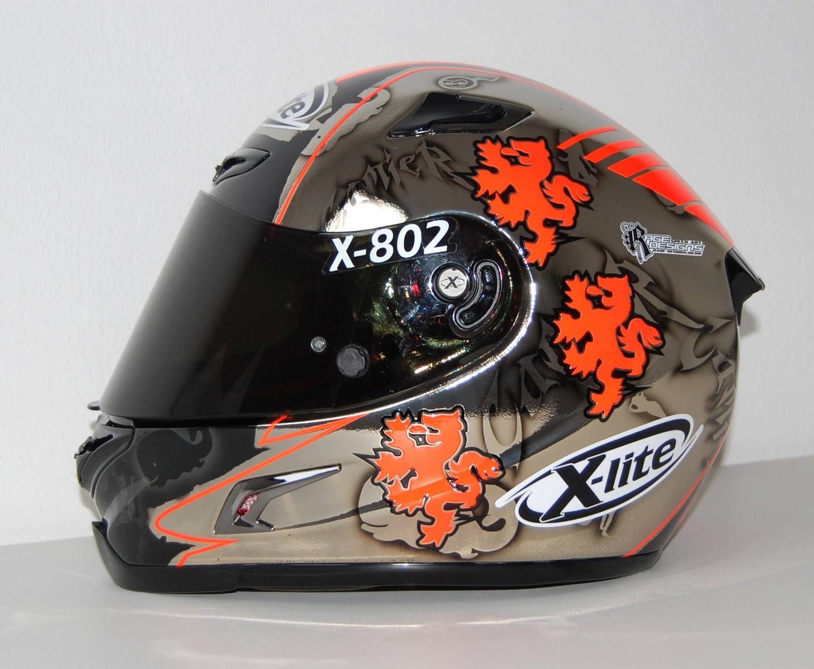 racing helmets garage x lite x 802r l camier donington. Black Bedroom Furniture Sets. Home Design Ideas