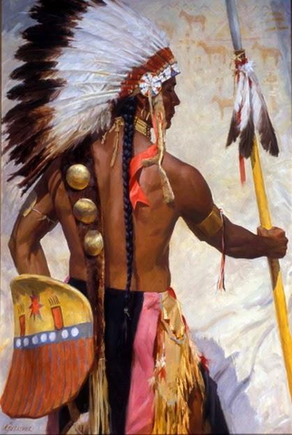 indios-americanos-pintados-con-oleo
