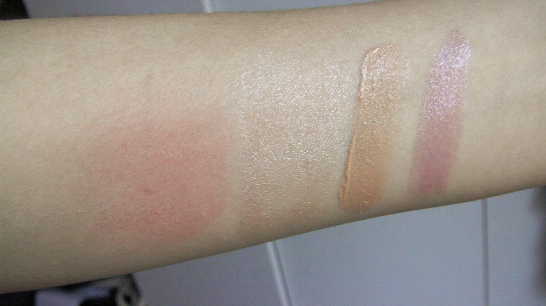inika cosmetics makeup swatch review