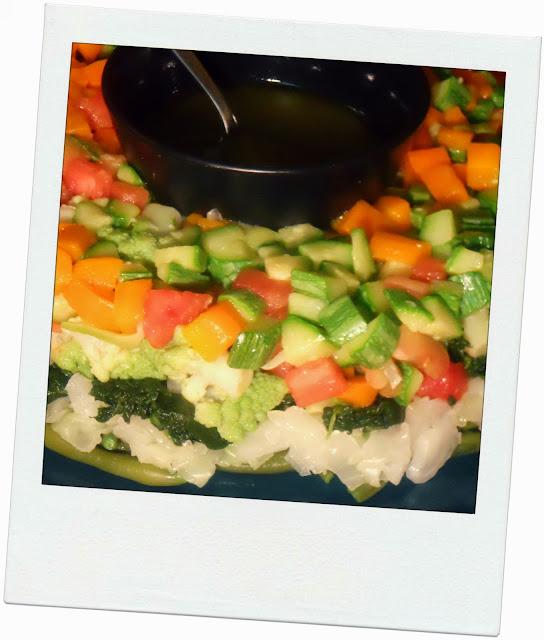 mix di verdure croccanti con salsa citronette