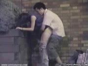 Câmera flagra casal fodendo na rua