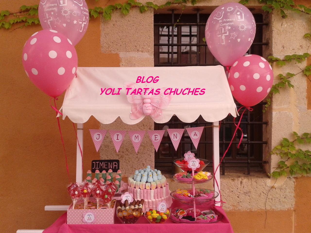 Yoli tartas chuches candy bar para jimena - Adornos con chuches ...