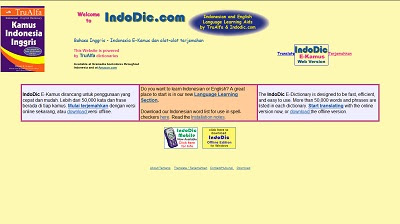 IndoDic E-kamus, Dictionary