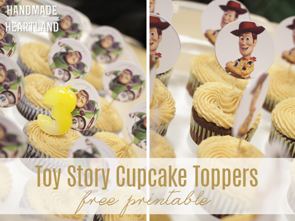 Buzz and Woody, Toy Story Cupcake Toppers free printable