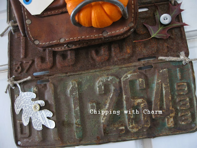 Chipping with Charm, Layers of Fall Door Decor via http://www.chippingwithcharm.blogspot.com/