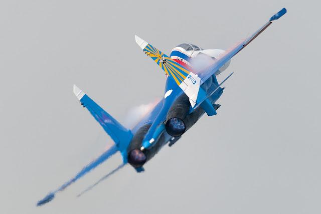 Blue Sukhoi Su-27 Flanker