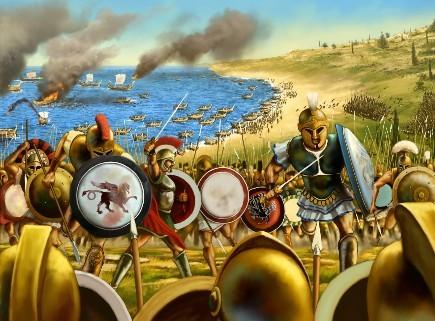 Batalhas online game Grepolis