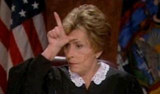 Judge Judy L on Forehead