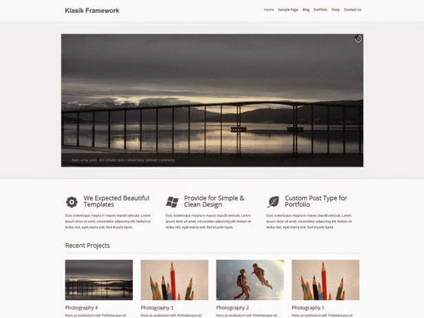 Klasik Free WordPress Theme
