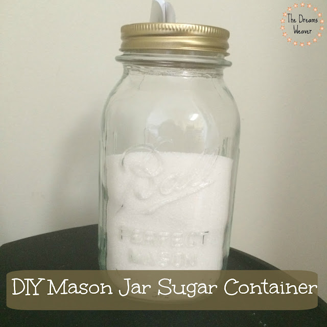 Mason Jar Sugar Container
