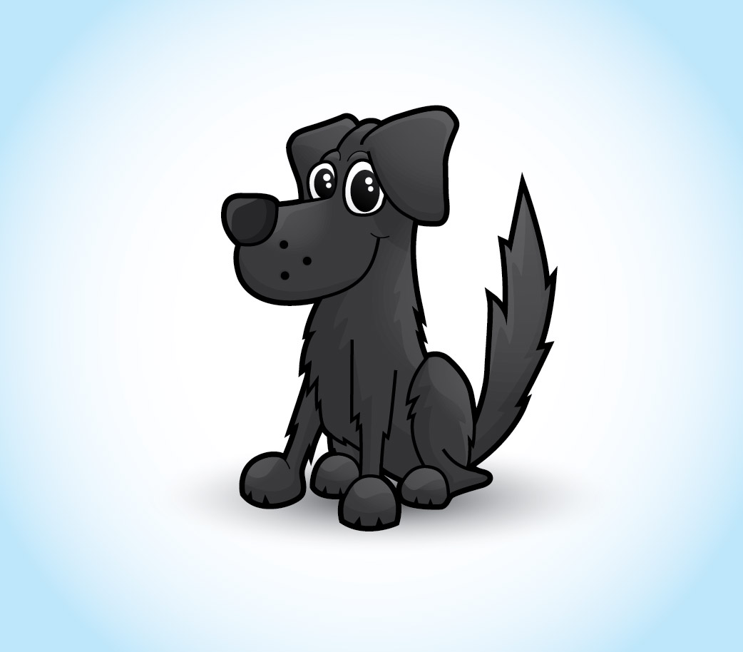 Images Of Cartoon Black Dogs