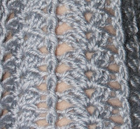 Узор ажурный вязания крючком по кругу