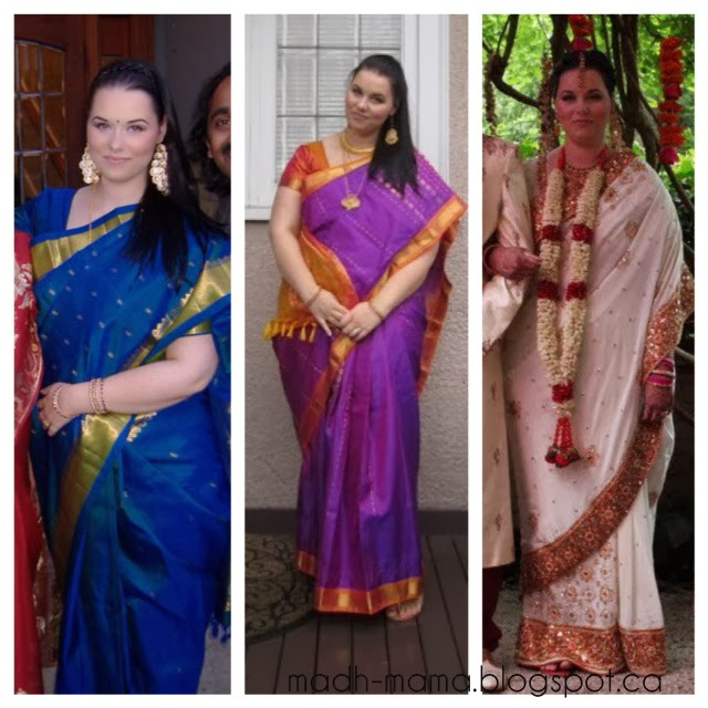 Wearing saree to american wedding