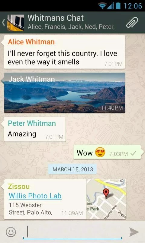 WhatsApp Messenger v2.12.108
