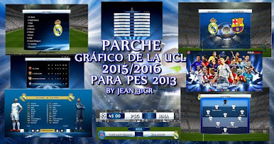 PES 2013 Graphic Patch UCL 2015/2016 by JEAN_31CR
