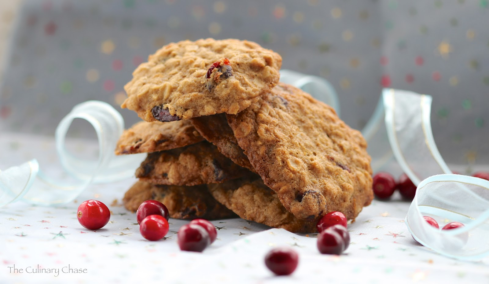 Chewy Oatmeal Cranberry Cookies - The Culinary Chase