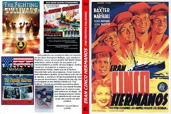 Carátula dvd: Eran cinco hermanos (1944) (The Sullivans)