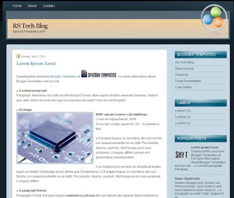 Rs Tech Blog Blogger Theme