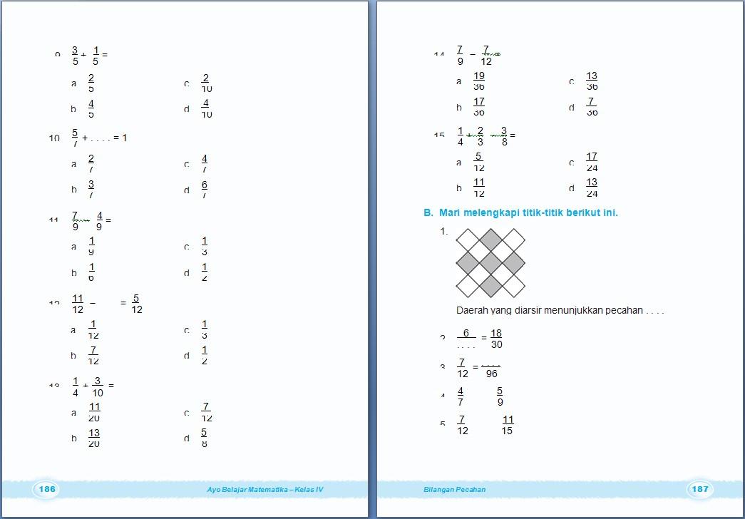 MATEMATIKA : Bilangan Pecahan  Bab 6 Kelas 4 SD  ~ Arrayhan eLearning