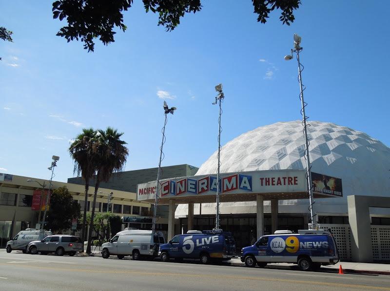News vans Cinerama Dome